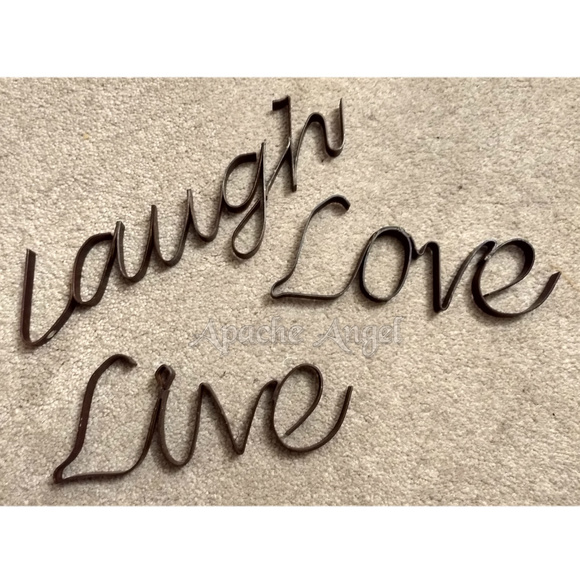 Wrought Iron Other - Live Love Laugh Wrought Iron Wall decor